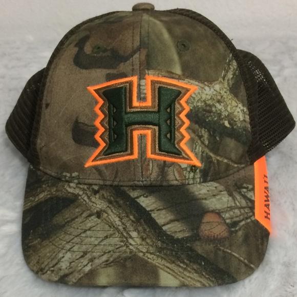 86d4278b Hawaii Snap Back Mesh Trucker Cap Camo Design Hat